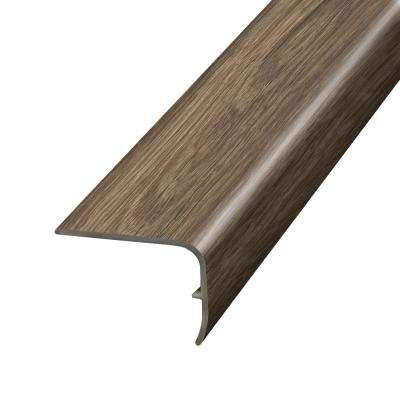 Natural Oak Java 1.32 in. Thick x 1.88 in. Wide x 78.7 in. Length Vinyl Stairnose Molding