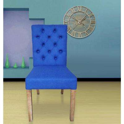 Cobalt Linen Parsons Rolled Back Dining Chair (Set Of 2)