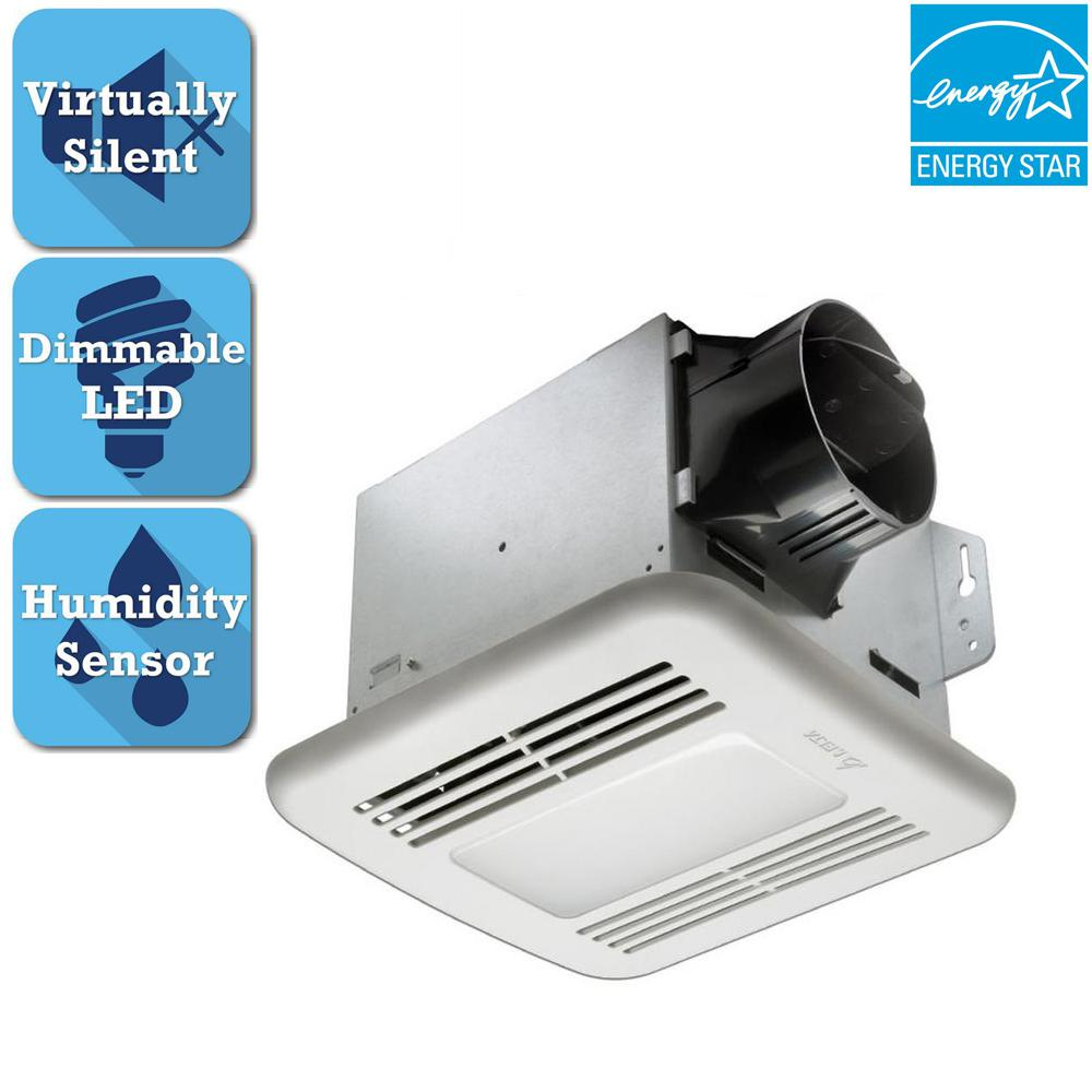 GreenBuilder Series 100 CFM Ceiling Bathroom Exhaust Fan with LED Light