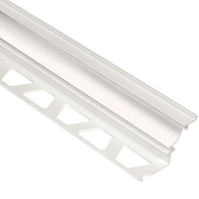 Dilex-PHK White 1/2 in. x 8 ft. 2-1/2 in. PVC Cove-Shaped Tile Edging Trim