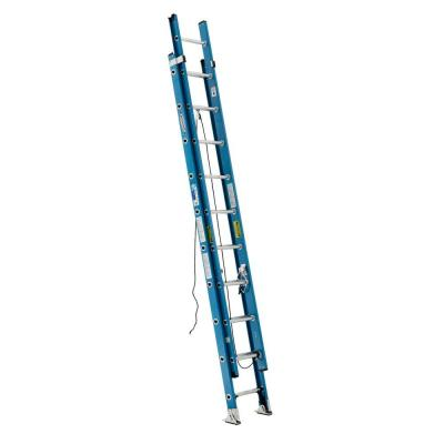 20 ft. Fiberglass Extension Ladder with 250 lb. Load Capacity Type I Duty Rating