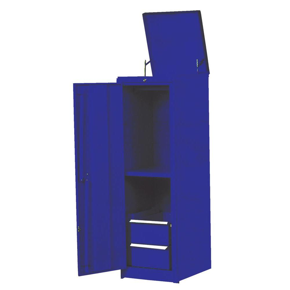 International 18 in. 2-Drawer Full Locker with 1 Shelf and Top Lid in Blue