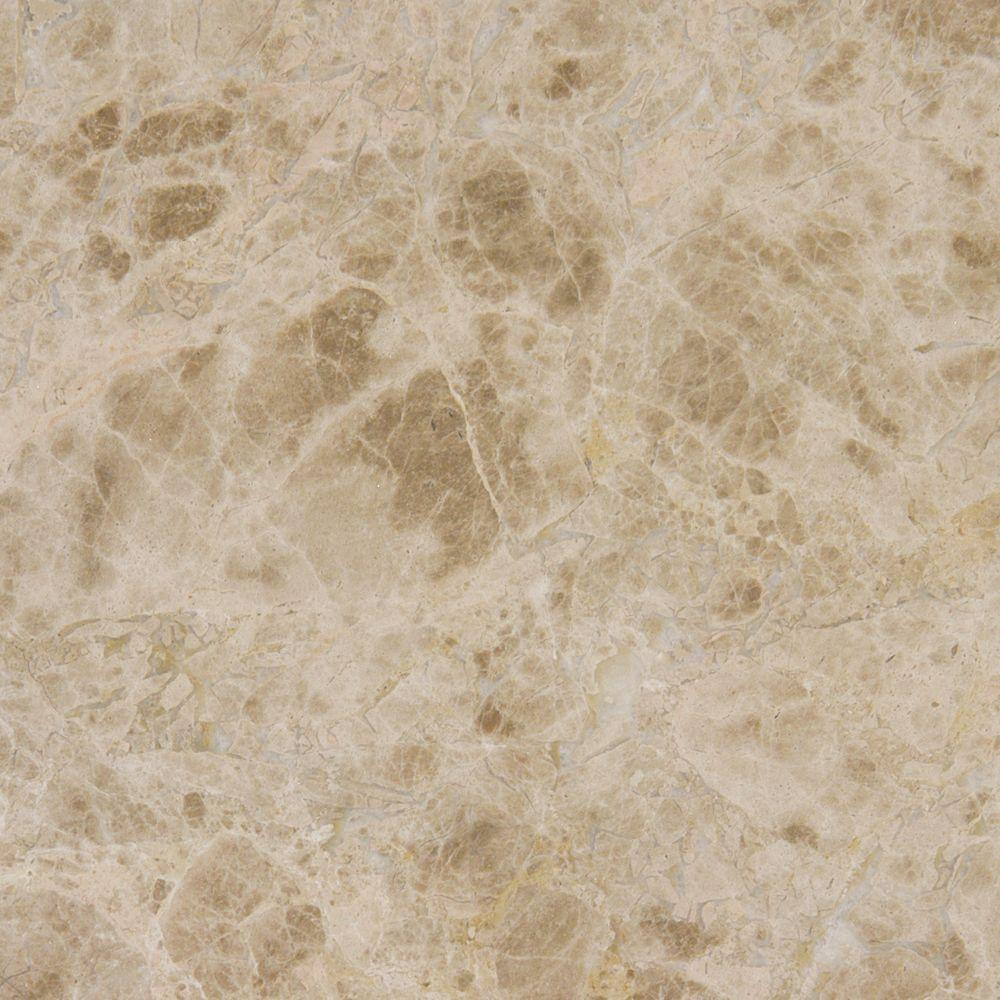 Ms International Emperador Light 12 In X 12 In Polished Marble Floor And Wall Tile 10 Sq Ft
