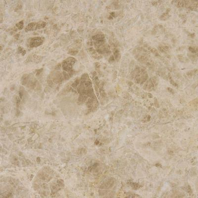 Emperador Light 18 in. x 18 in. Polished Marble Floor and Wall Tile (9 sq. ft. / case)