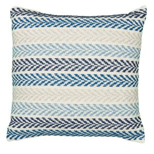 Beach House Blue Multi Chevron Soft Poly-fill 26 in. x 26 in. Throw Pillow