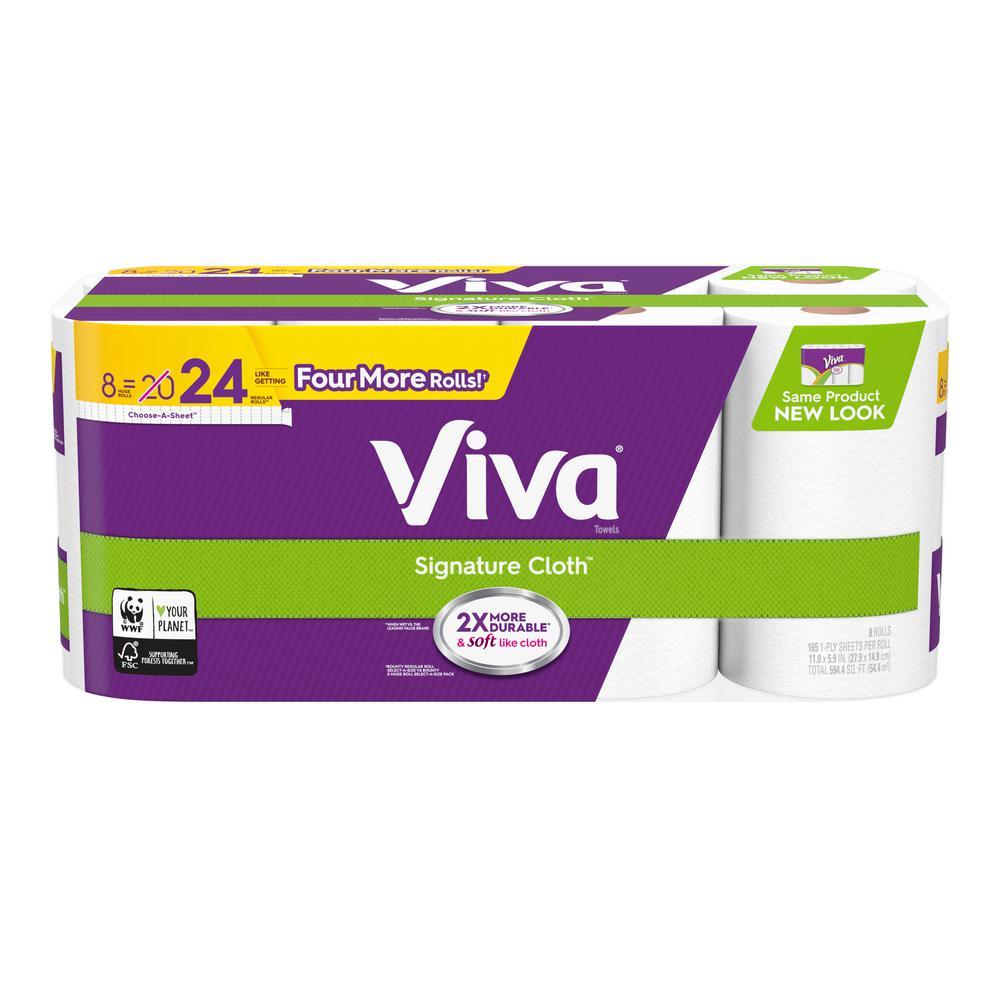Choose-A-Sheet White Paper Towels Huge Roll (8-Rolls)