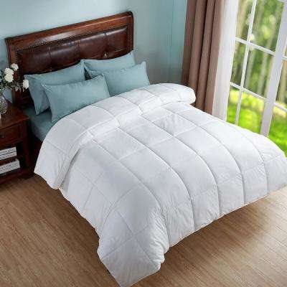 All Season Twin Geometric Woven Down Alternative Comforter