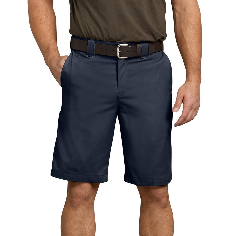 Dickies Men's Dark Navy Flex 11 in. Relaxed Fit Work Short