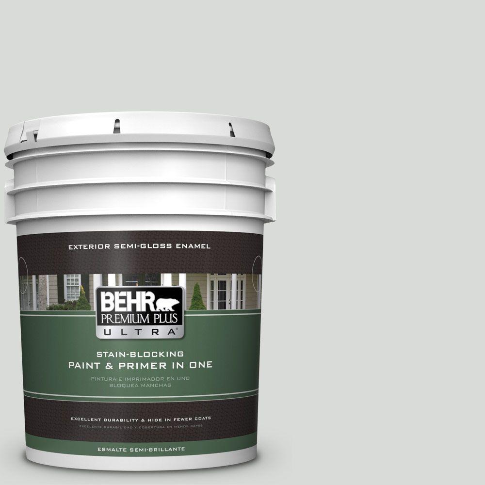 BEHR Premium Plus Ultra 5-gal. #PWN-67 Nurture Semi-Gloss Enamel Exterior Paint