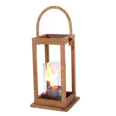 Cape Cod 17 in. Lantern in Teak Wood (Small Size)