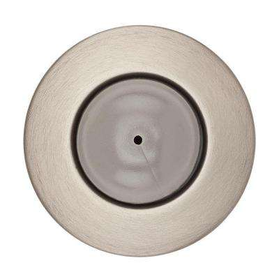 2.4 in. Satin Nickel Convex Wall Mounted Door Stop