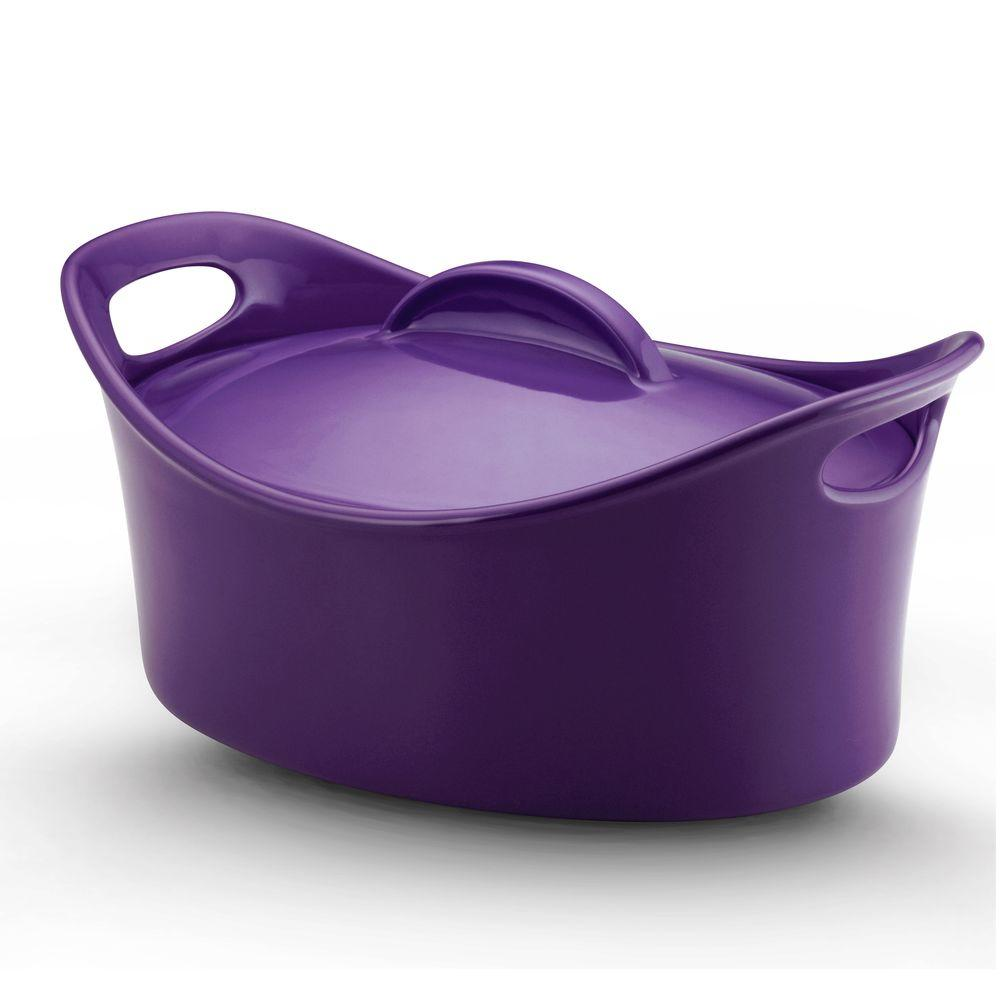 Rachael Ray 4-1/4 qt. Covered Casseroval in Purple