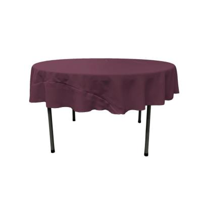 72 in. Eggplant Polyester Poplin Round Tablecloth