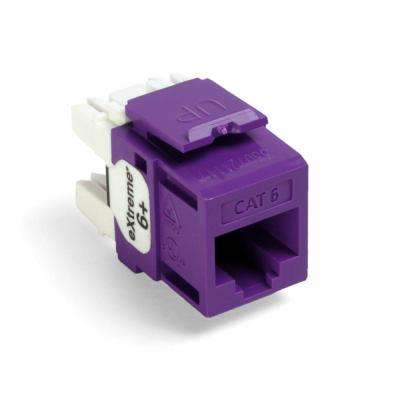 QuickPort Extreme CAT 6 T568A/B Wiring Connectors, Purple (25-Pack)
