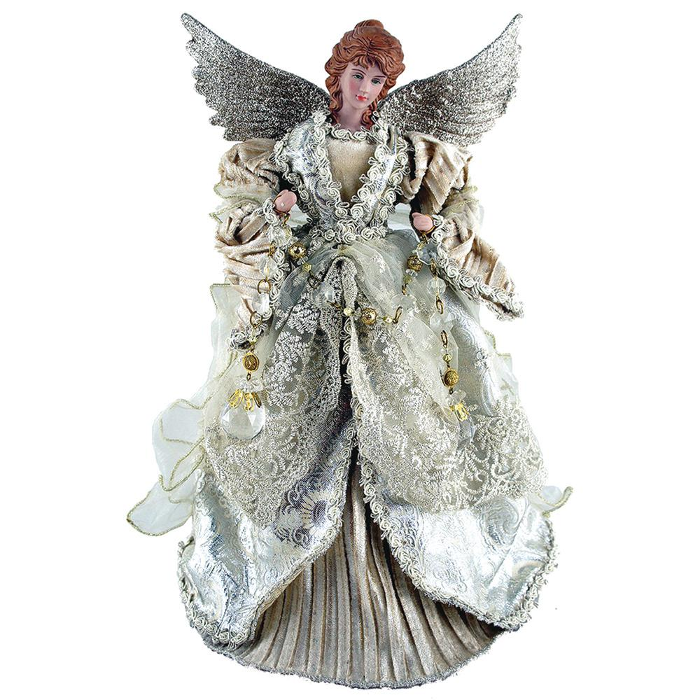 Christmas Tree Angel Tree Topper: Santa's Workshop 16 In. Gilded Angel Tree Topper-3035