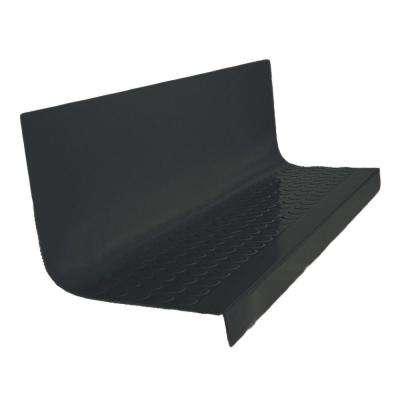 Vantage Circular Profile Black 20.4 in. x 48 in. Rubber Square Stair Tread