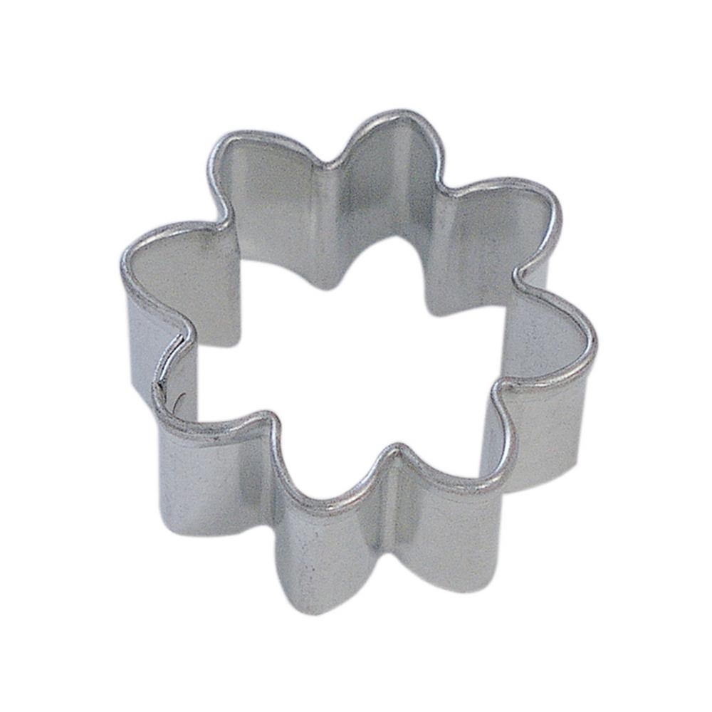 12-Piece Mini Daisy Tinplated Steel Cookie Cutter & Cookie Recipe