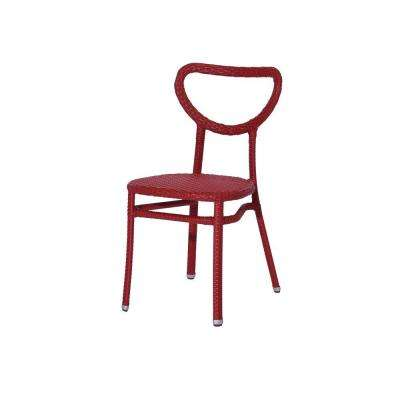 Edina II Red Patio Dining Chair (4-Pack)