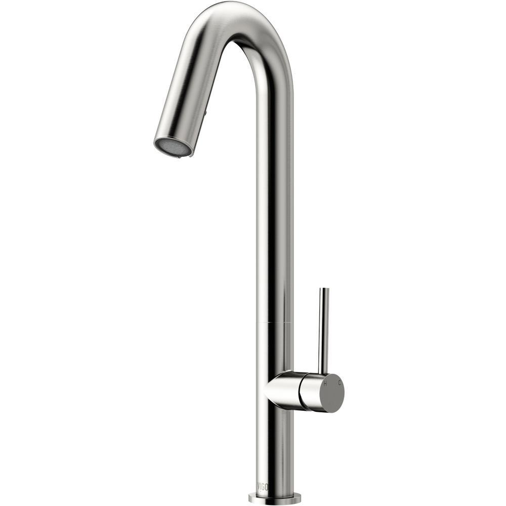 Oakhurst Led Pull-Down Kitchen Faucet in Stainless Steel