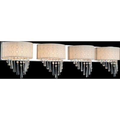 Burney 4-Light Chrome Sconce