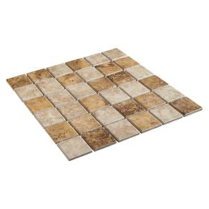 Rio Mesa Desert Sand 12 in. x 12 in. x 6 mm Ceramic Mosaic Floor and Wall Tile (1 sq. ft. / piece)