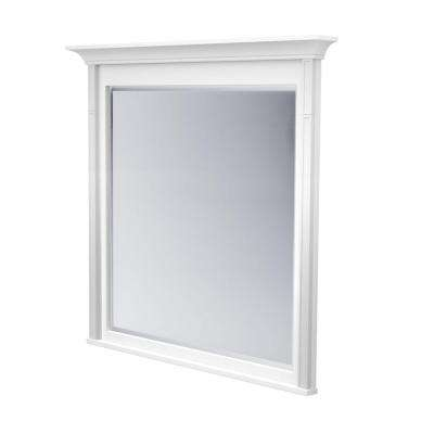 42 in. L x 42 in. W Framed Wall Mirror in Dove White