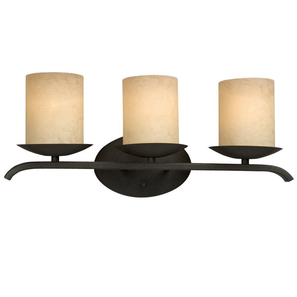 Filament Design Negron 3-Light Aged Bronze Incandescent Bath Vanity Light