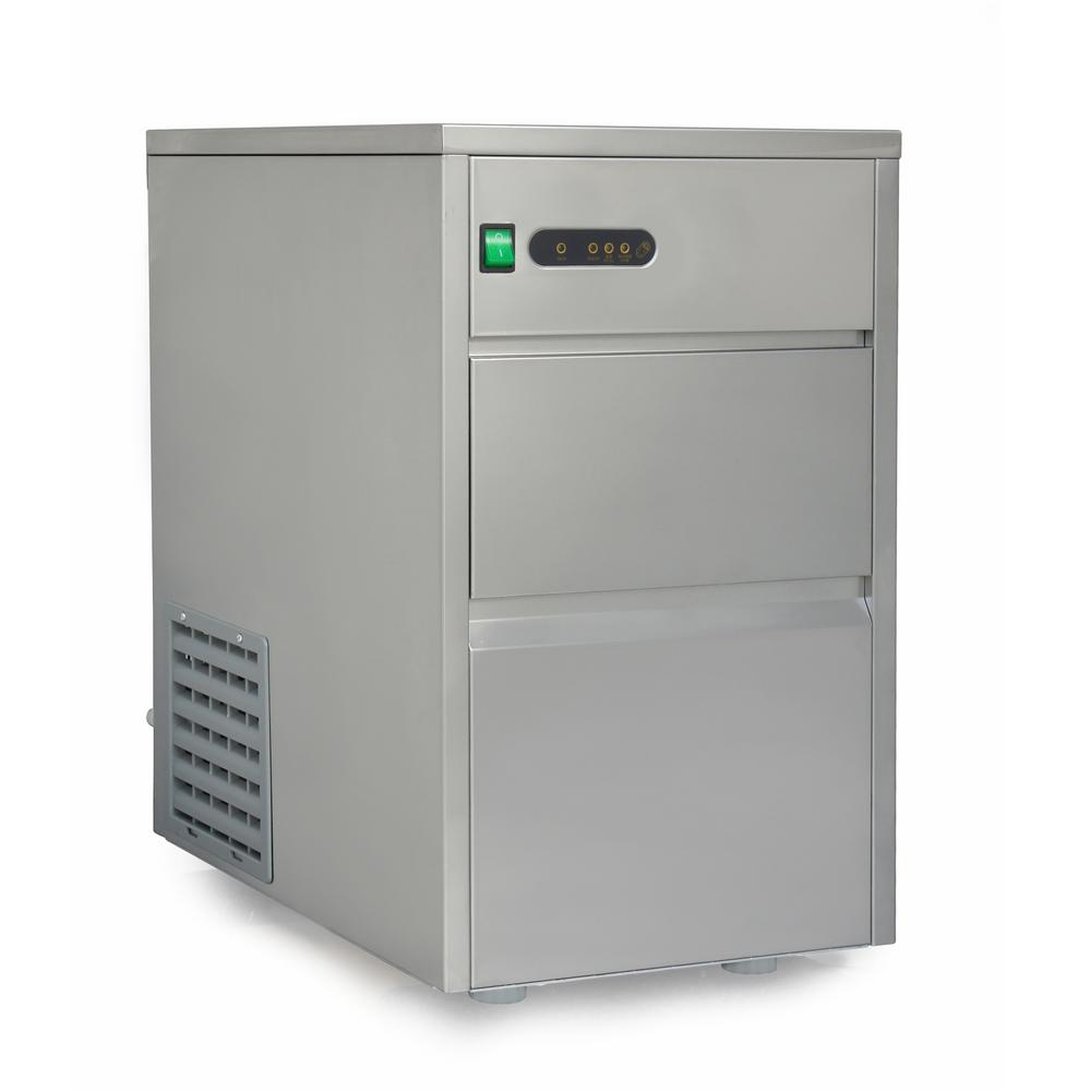 66 lb. Freestanding Automatic Ice Maker in Stainless Steel