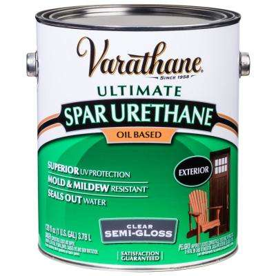 1 gal. Clear Semi-Gloss Oil-Based Exterior Spar Urethane (2-Pack)