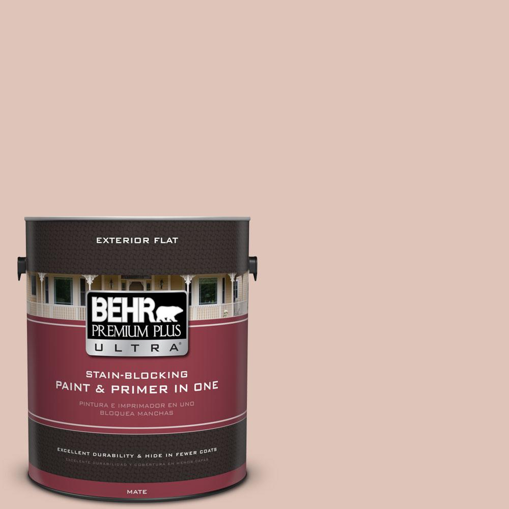 1-Gal. #PPU2-7 Coral Stone Flat Exterior Paint