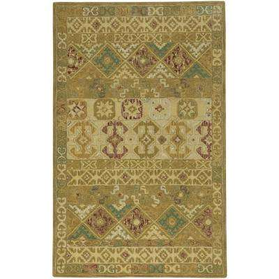 Smyrna Afghan Gold 7 ft. x 9 ft. Area Rug