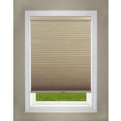 Cut-to-Width Khaki 1.5in. Blackout Cordless Cellular Shade - 58.5in. W x 48in. L (Actual size:  58.5in. W x 48in. L)