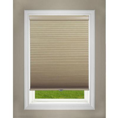 Perfect Lift Window Treatment Cut To Width Khaki 1 5in Blackout Cordless Cellular Shade 60 5in W X 72in L Actual Size 60 5in W X 72in L Qekk604720 The Home Depot