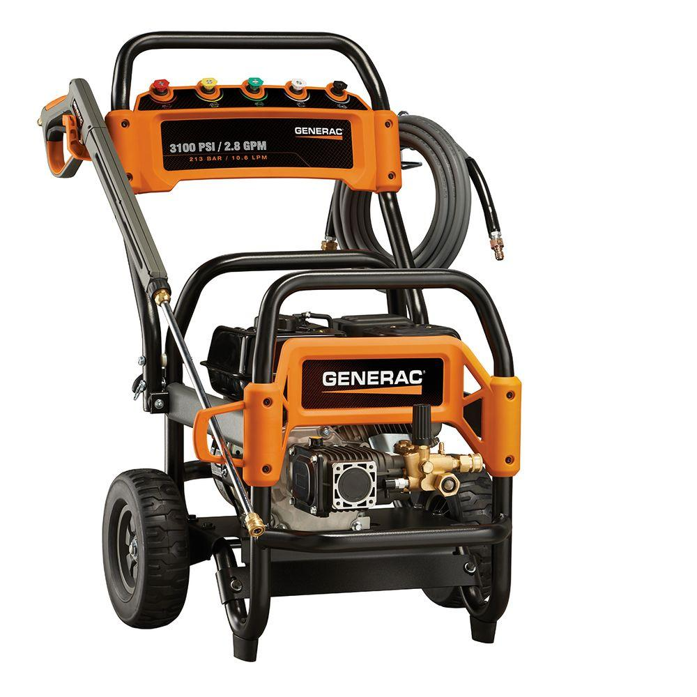 Generac 3,100 psi 2.8-GPM OHV Engine Triplex Pump Gas Powered Pressure Washer