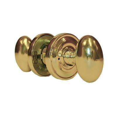 Sapphire Residential Handley Style Polished Brass Privacy Bed/Bath Door Knob