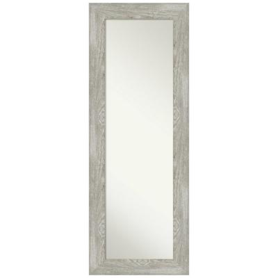 Large Rectangle Distressed Grey Modern Mirror (53.88 in. H x 19.88 in. W)