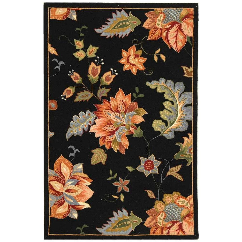 Safavieh Chelsea Black 3 ft. 9 in. x 5 ft. 9 in. Area Rug