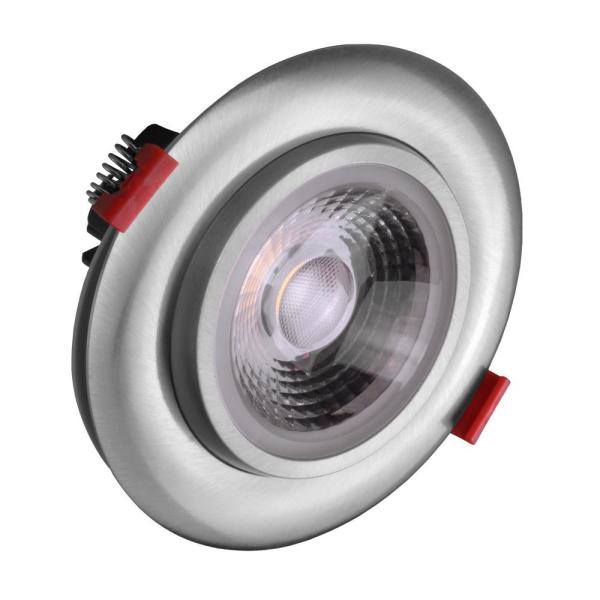 4 in. Nickel 5000K Remodel IC-Rated Recessed Integrated LED Gimbal Downlight Kit