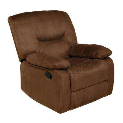 Rocker Brown Microfiber Recliner
