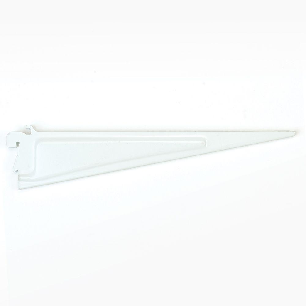 ClosetMaid ShelfTrack 12 in. x .5 in. White Shelf Bracket