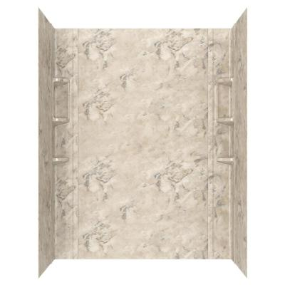 Ovation 32 in. x 60 in. x 72 in. 5-Piece Glue-Up Alcove Shower Wall Set in Celestial Marble