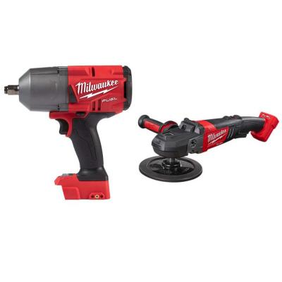 M18 FUEL 18-Volt Lithium-Ion Brushless Cordless 1/2 in. Impact Wrench with Friction Ring & 7 in. Variable Speed Polisher