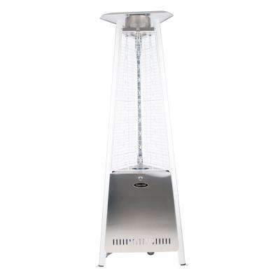 73 in. 42,000 BTU Stainless Steel Pyramid Flame Gas Patio Heater