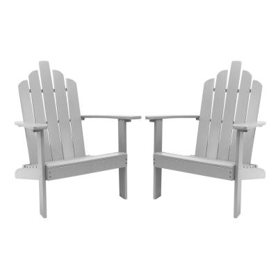 Marley Gray Wood Adirondack Outdoor Patio Chair (2-Pack)