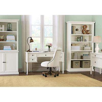 Ingrid Rubbed Ivory Open Bookcase Part 73