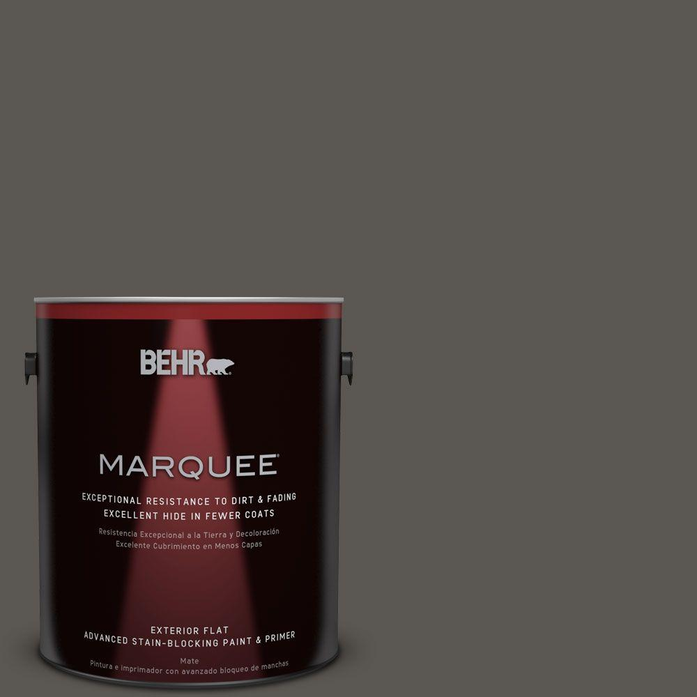 BEHR MARQUEE 1-gal. #BXC-17 Dominant Gray Flat Exterior Paint