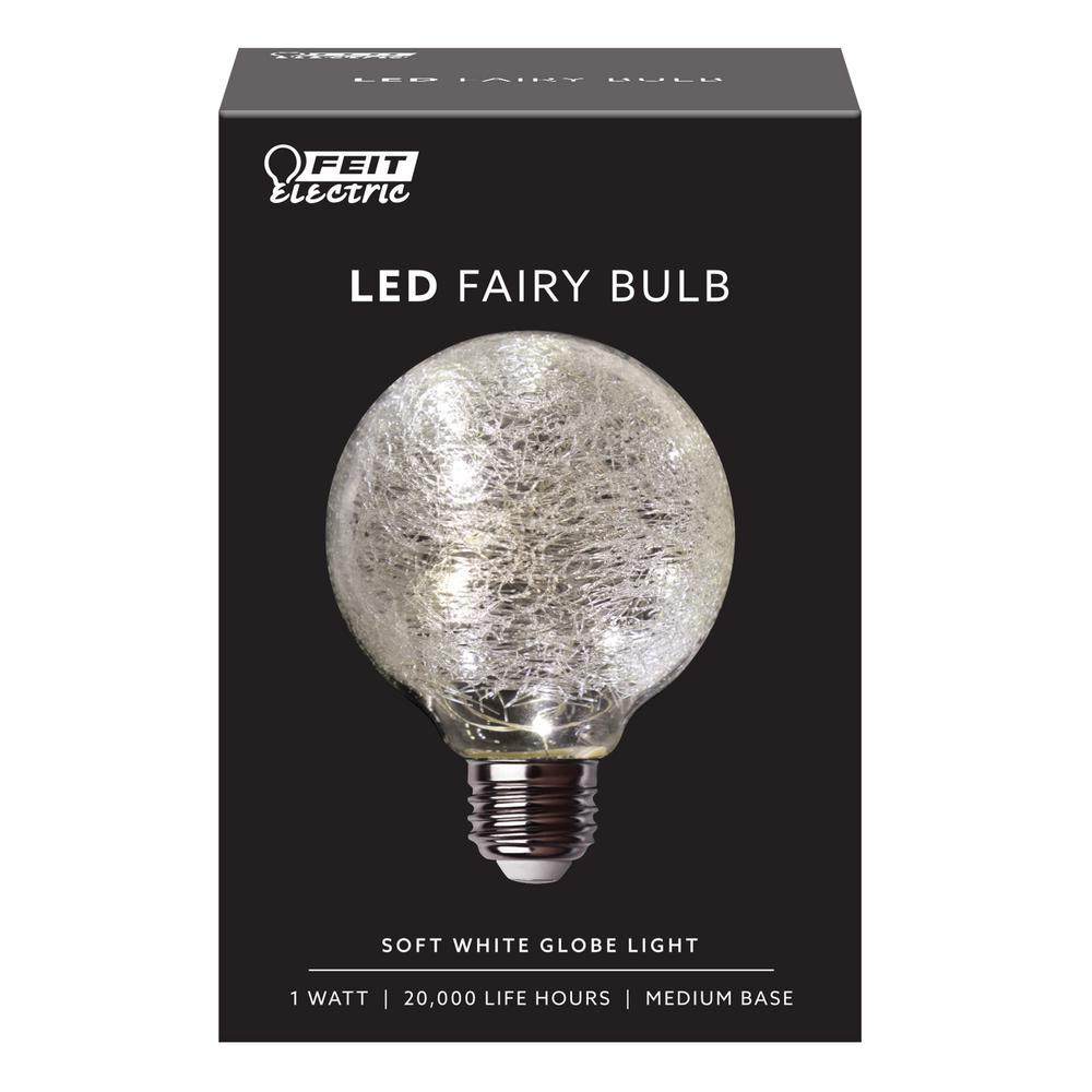 Feit Electric 11 Watt Equivalent Soft White G25 Globe Fairy Light Le Gl Led Bulb