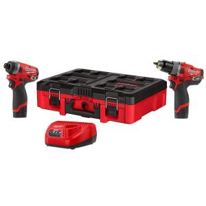 Milwaukee 12-Volt Lithium-Ion Hammer Drill and Impact Driver Combo Kit