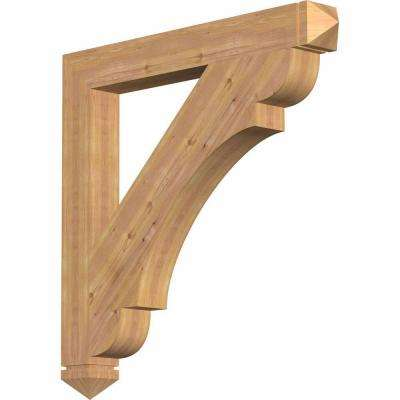 5.5 in. x 48 in. x 48 in. Western Red Cedar Olympic Arts and Crafts Smooth Bracket
