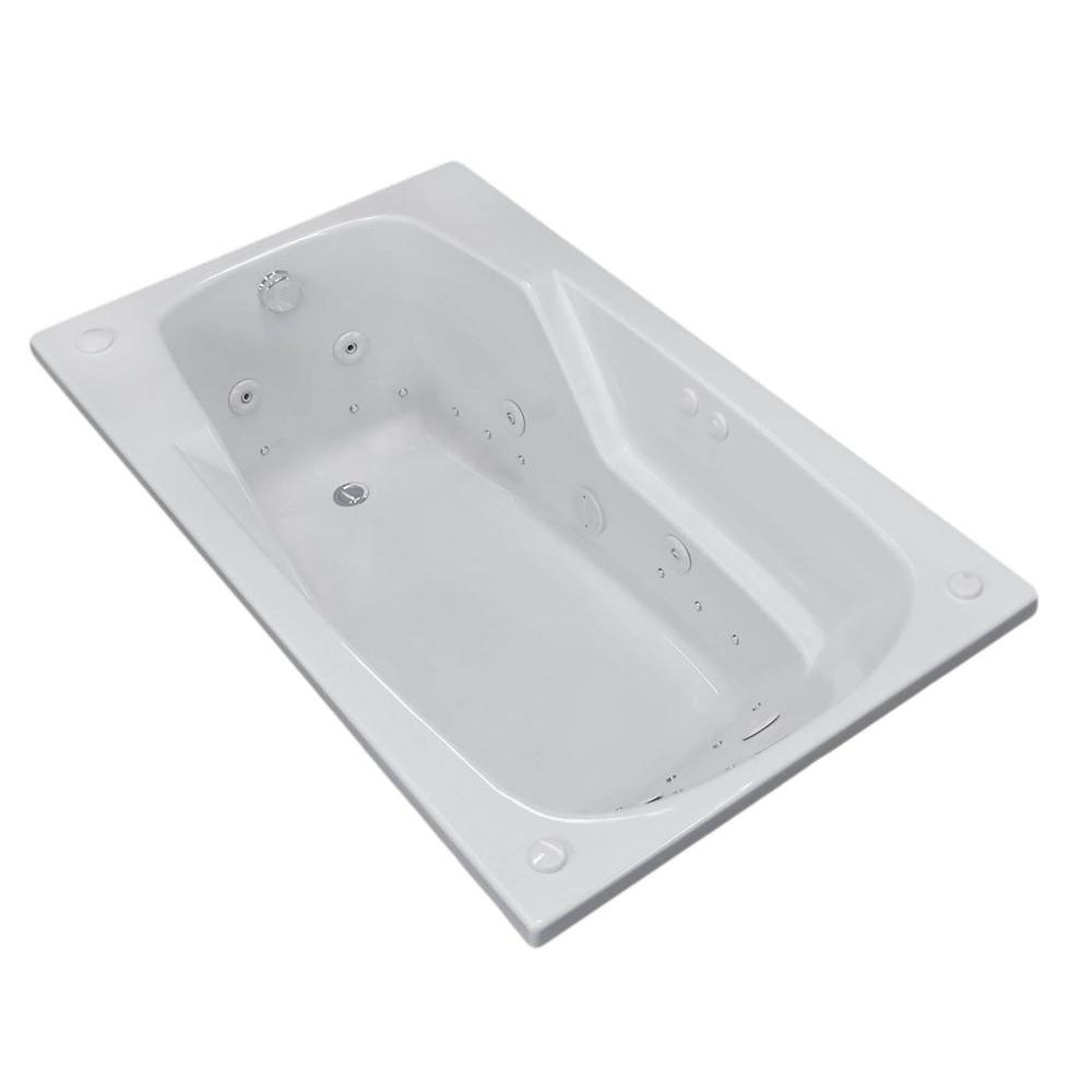Universal Tubs Coral 5 ft. Rectangular Drop-in Whirlpool and Air Bath Tub in White